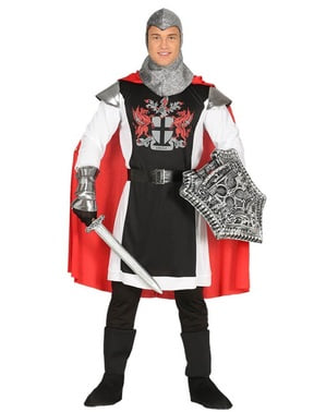 Medieval knight of the dragon costume for men
