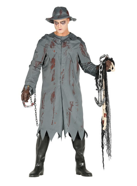 Disfraz de pescador zombie para hombre