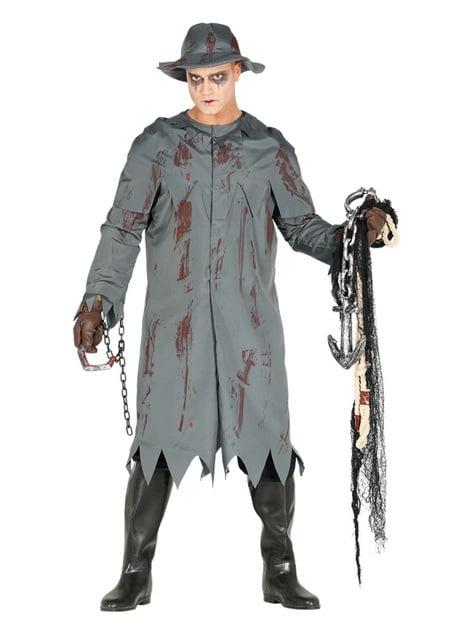 Zombie fisherman costume for men