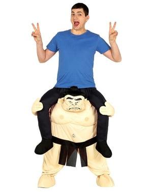 Maskeraddräkt sumo ride on för vuxen