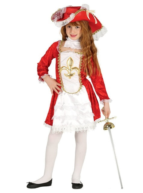 Red Musketeer Girls Costume