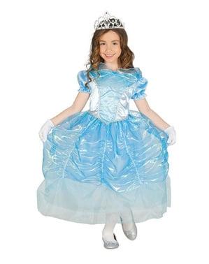 Strój księżniczka krystalicznie błękitny dla dziewczynki