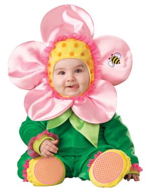 Fato de florzinha primaveril para bebé
