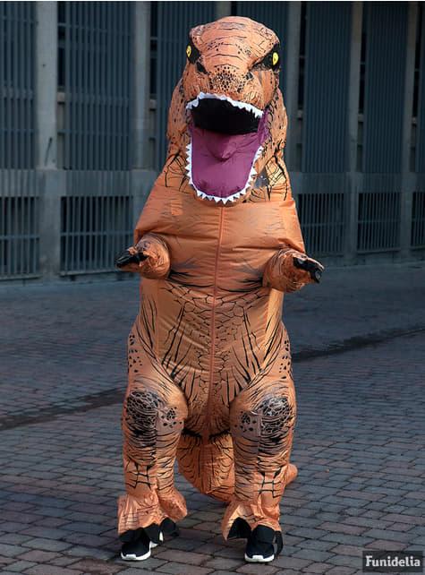 Fato de T-Rex insuflável Jurassic World para adulto