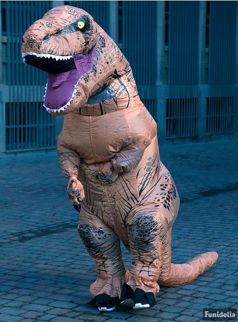 Aufblasbares T-Rex Jurrasic World Kostüm für Erwachsene