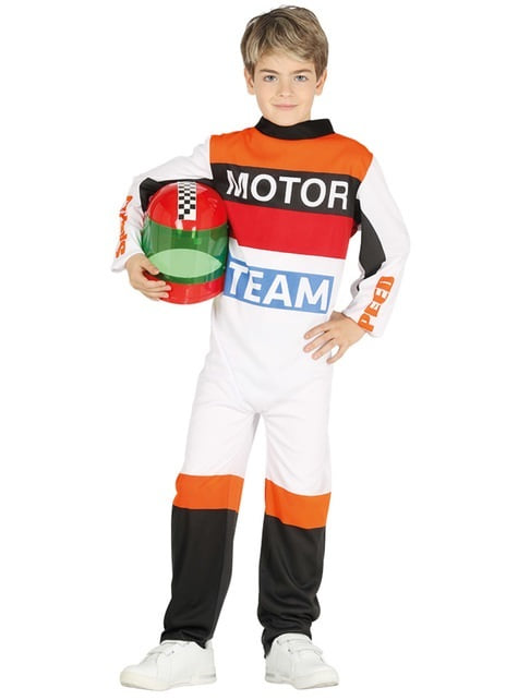 Motorcycle road racer costume for children