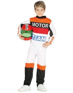 Motorcoureur kostuum voor kinderen