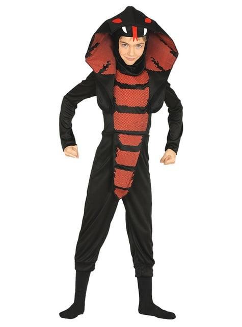 Black cobra costume for kids