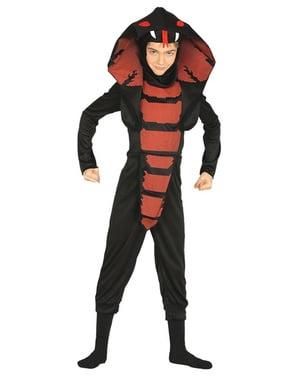 Zwarte cobra kostuum voor kinderen