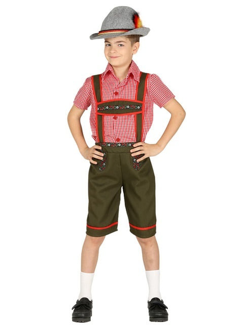 Green Bavarian Costume for a boy