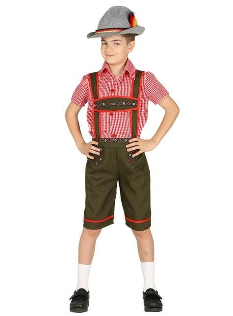 Strój bawarski chłopiec zielony dla chłopca