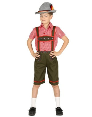 Chlapecký bavorský kostým zelený