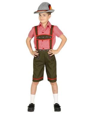 Costum de tirolez verde pentru băiat