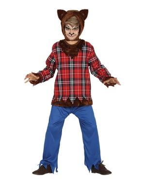 Erschreckender Wolfsmensch Kostüm für Jungen