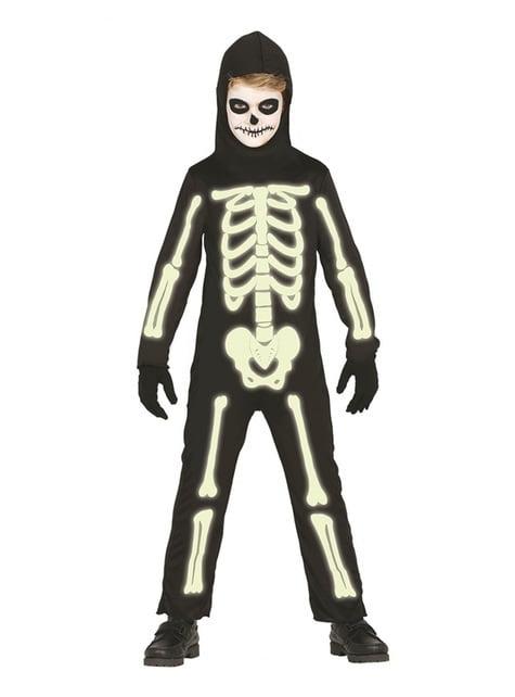 Kostium szkielet świecący w ciemności dla dzieci