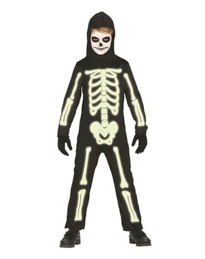 Kids Skeleton Shining in the Dark Costume