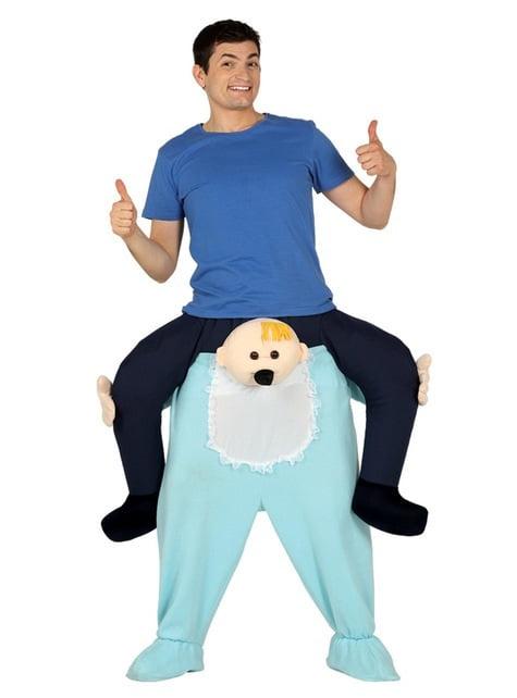 Disfraz de bebé ride on para adulto