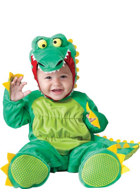 Disfraz de cocodrilo animado para bebé