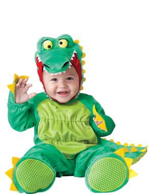 Fato de crocodilo animado para bebé