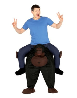 Gorilla Huckepack Kostüm für Erwachsene