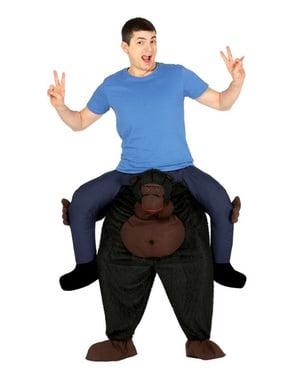 Kostým piggyback gorila na chrbte