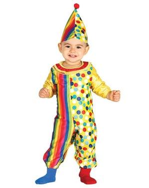 schattig clown kostuum voor baby's