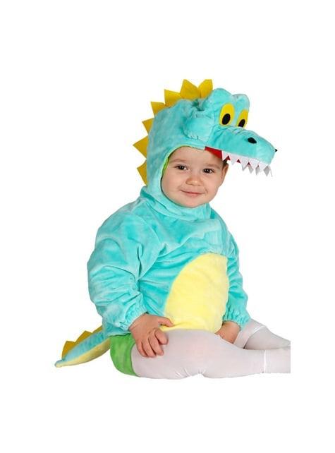 Disfraz de cocodrilo azul para bebé