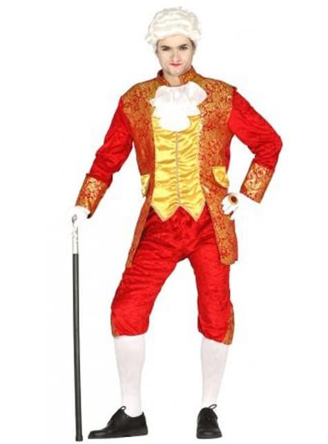 Déguisement marquis rouge homme