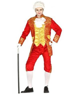Pánsky kostým markizá v červenej farbe