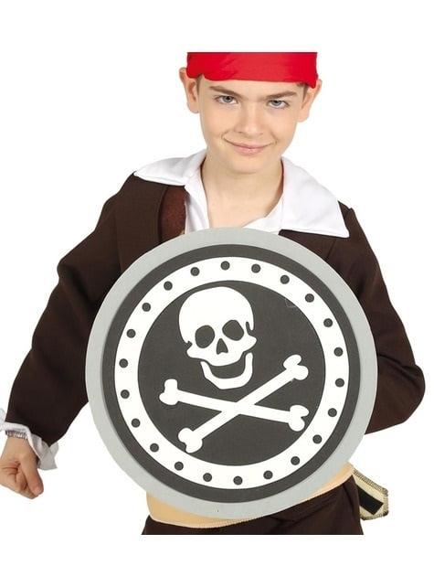 Escudo pirata de EVA infantil de 29 cm