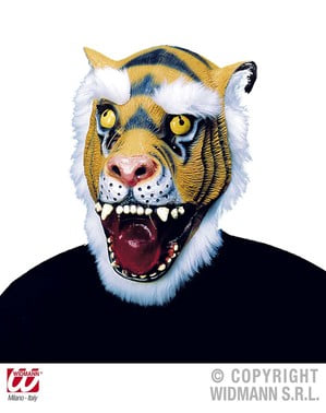 Maska włochaty tygrys lateksowa dla dorosłych