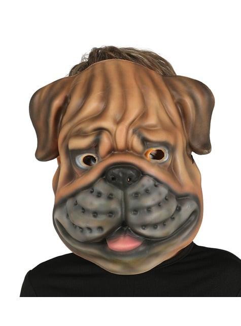 Máscara de perro bulldog de EVA infantil