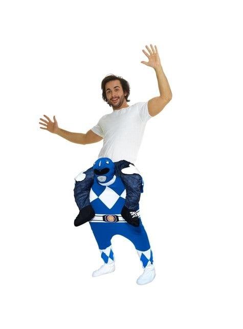 Déguisement Power Ranger bleu porte-moi adulte