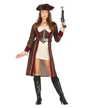 Pirat kostyme med regnjakke for dame