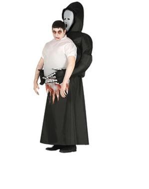Aufblasbares Sensenmann Kostüm