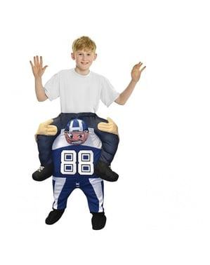 Fato às costas de quarterback infantil