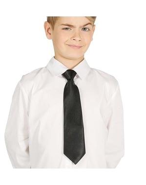 Черна вратовръзка за деца
