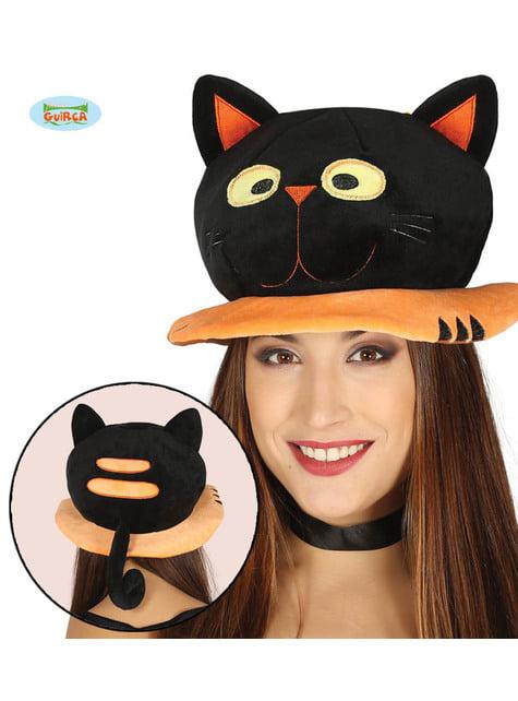 Pălărie cu pisică neagră pentru adult
