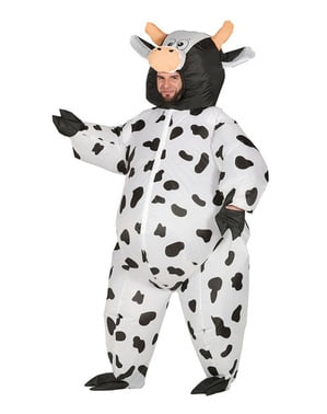 Inflatable cow costume for adults