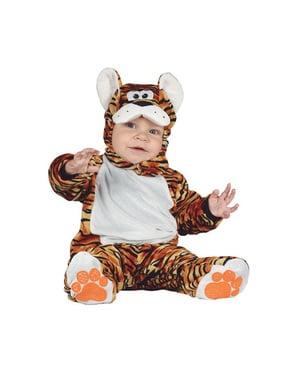 Costume da tigre adorabile arancione per neonato