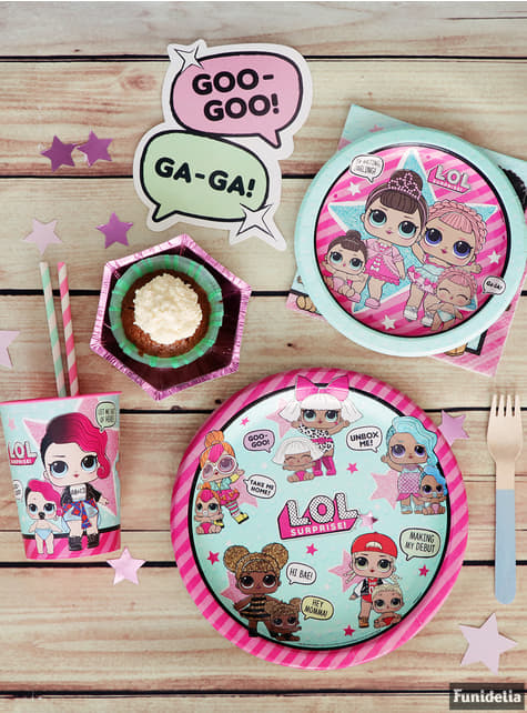 Set of 8 LOL Surprise plates