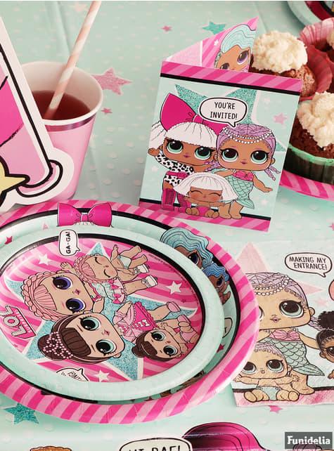 8 pratos de sobremesa LOL Surprise (18 cm) - LOL Friends