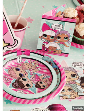 8 platos de postre LOL Surprise (18cm) - LOL Friends