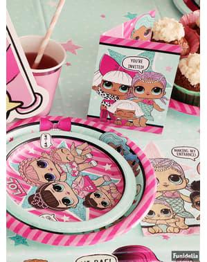 Sett med 8 LOL Overraskelse desserttallerkener