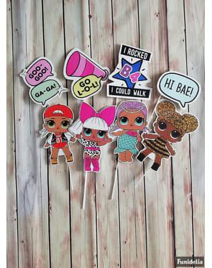 8 stk Photobooth LOL Surprise tilbehør - LOL Friends