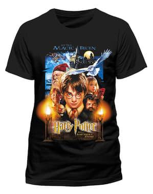 पुरुषों के लिए हैरी पॉटर और द फिलॉसफर की स्टोन टी-शर्ट