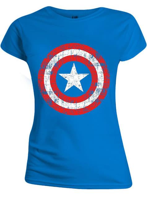 T-shirt de Capitão América para mulher - Marvel