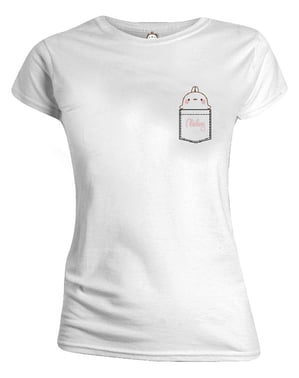Camiseta de Molang blanca para mujer