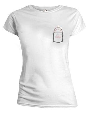 Molang T-Skjorte til Dame i Hvitt