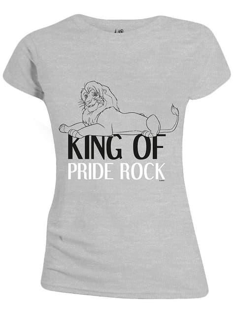 Camiseta de El Rey León gris para mujer - Disney